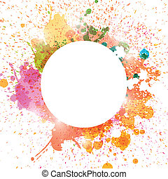 Vector Abstract Background with Splashes - Vector...