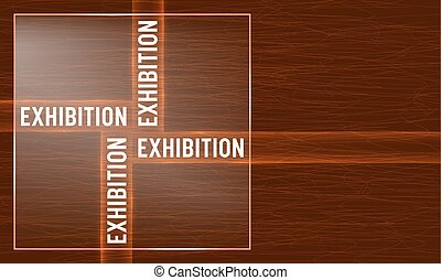 Vector abstract background with theme of exhibition
