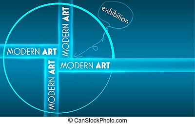 Vector abstract background with theme of modern art