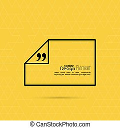Vector abstract background with triangles. Quotation Mark Speech Bubble. Quote sign icon.
