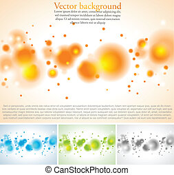 Vector abstract backgrounds with bubbles