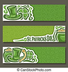 Vector abstract banner for St Patrick's Day
