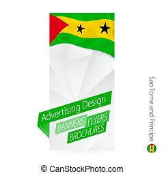 Vector abstract banner template for Sao Tome and Principe.