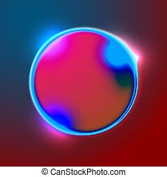 Vector abstract banner with bright circle shape