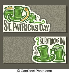 Vector abstract Banners for St. Patrick's Day