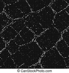 Vector abstract big data visualization. Grayscale glowing data flow as symbols. Computer code representation. Cryptographic analysis, hacking. Bitcoin blockchain transfer. Program code pattern