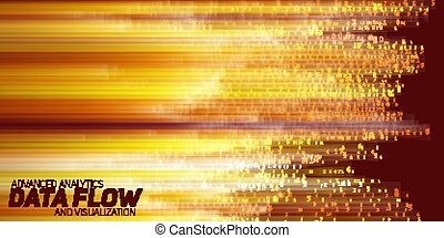 Vector abstract big data visualization.