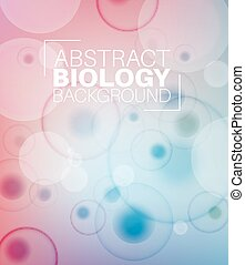 Vector Abstract biology background with moleculs and virus