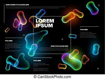 Vector Abstract biology flyer template