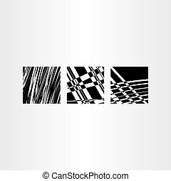 vector abstract black background set