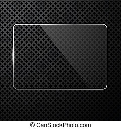 Vector abstract black technology background with transparent...