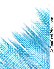 vector, abstract, blauwe achtergrond, met, plein