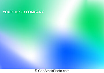 Vector abstract blue and green color background