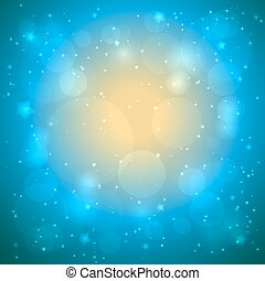 Vector abstract blue bokeh background
