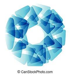 Vector abstract blue circle.