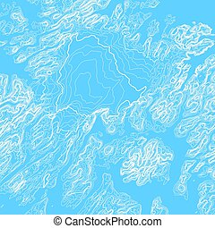 Vector abstract blue earth relief map. Generated conceptual...