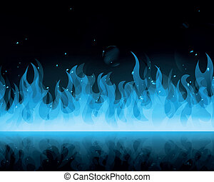 Vector Abstract Blue Fire