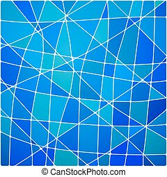 Vector abstract blue mosaic background
