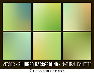 Vector abstract blurred background. Web site banners design. Interface template. Eco concept