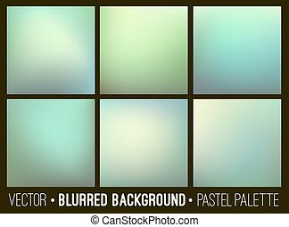 Vector abstract blurred background. Web site banners design. Interface template.