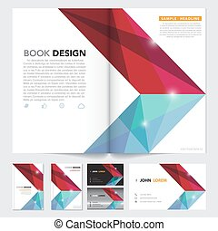 Vector abstract brochure ,book cover, name card, flyer...