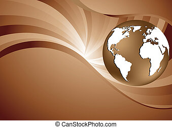 Vector abstract brown background
