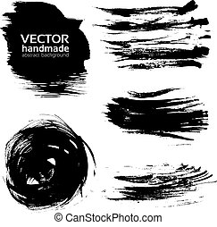 Vector abstract brush strokes paint
