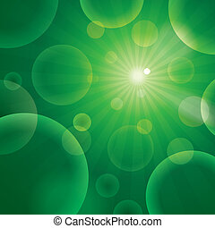 Vector abstract bubble green