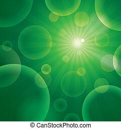 Vector abstract bubble green