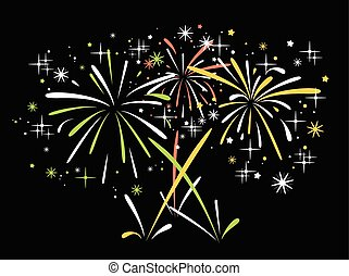 vector abstract  bursting fireworks