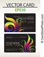 Vector abstract business card with place for your text
