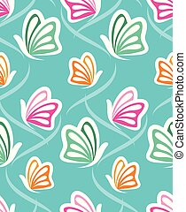 Vector abstract butterfly pattern