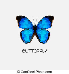 Vector Abstract butterfly symbol