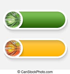 vector abstract button