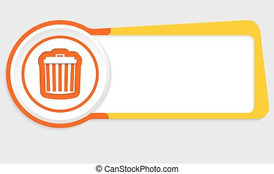 Vector abstract button for your text and trashcan