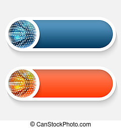 vector abstract button