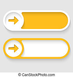 vector abstract buttons with arrows