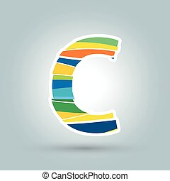 Vector abstract C geometric letter logo