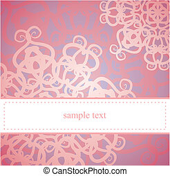 Vector abstract card or invitation