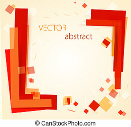 vector abstract chaotic background