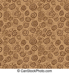 Vector abstract chocolate pattern - seamless background -...