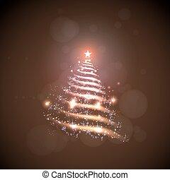 Vector abstract christmas tree, easy all editable