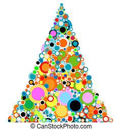 abstract christmas-tree