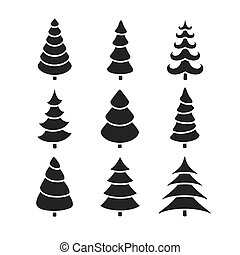 Vector Abstract Christmas Trees