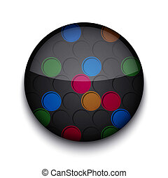 Vector abstract circle app icon on white background. Eps10