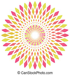 vector abstract circle flower