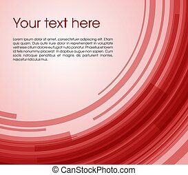 Vector abstract circle rectangle background in red color