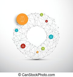 Vector abstract circles illustration / infographic network template