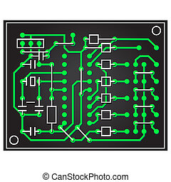 vector abstract circuit board