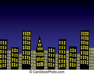 vector abstract city